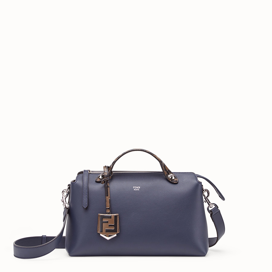 FENDI BY THE WAY MEDIUM - Blue leather Boston bag - view 1 detail