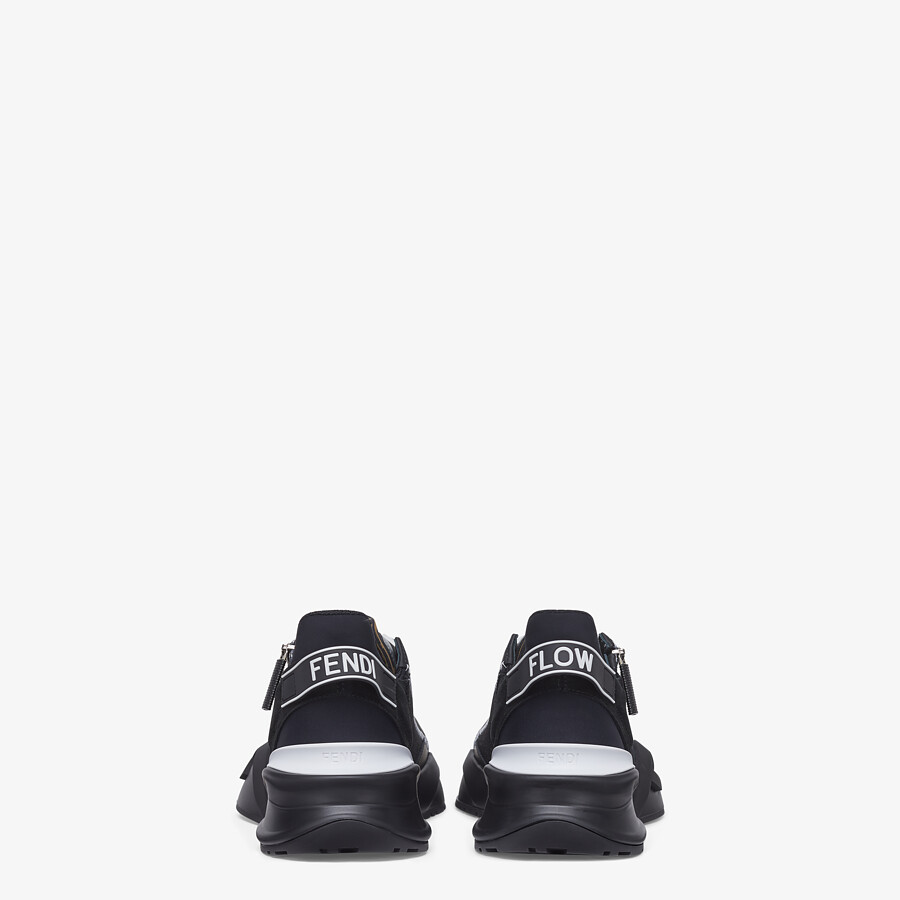 FENDI SNEAKERS - Black fabric low-tops - view 3 detail