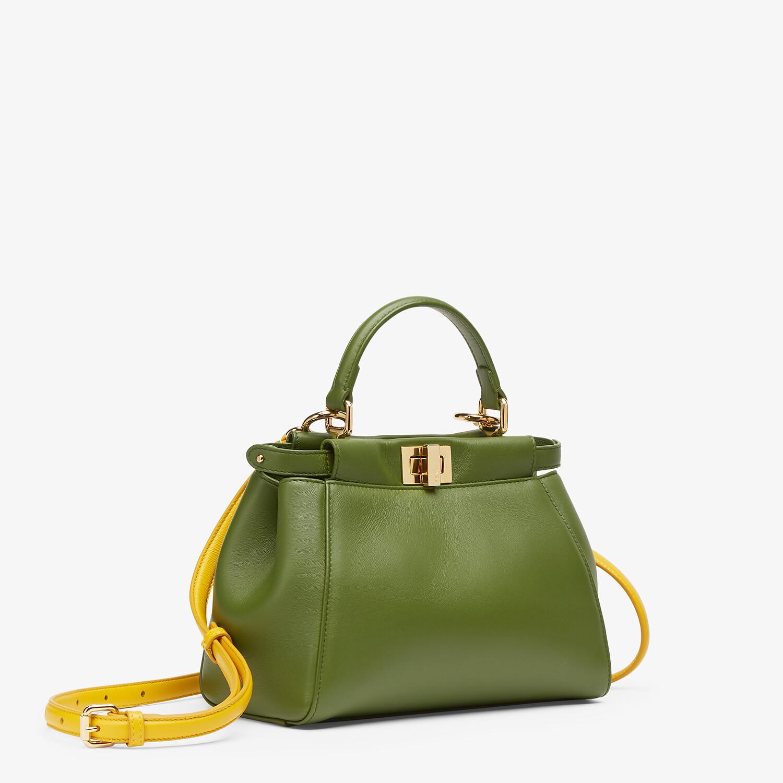 FENDI PEEKABOO MINI - Green nappa leather bag - view 3 detail