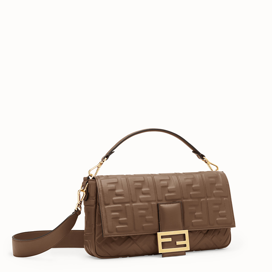 FENDI BAGUETTE LARGE - Green nappa leather bag - view 3 detail