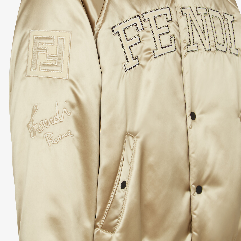 FENDI BOMBER JACKET - Champagne satin jacket - view 4 detail