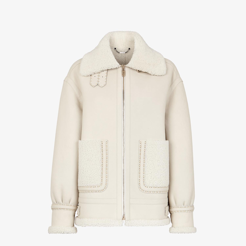 FENDI JACKET - White shearling jacket - view 1 detail