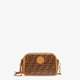 FENDI CAMERA CASE - Brown fabric bag - view 1 thumbnail