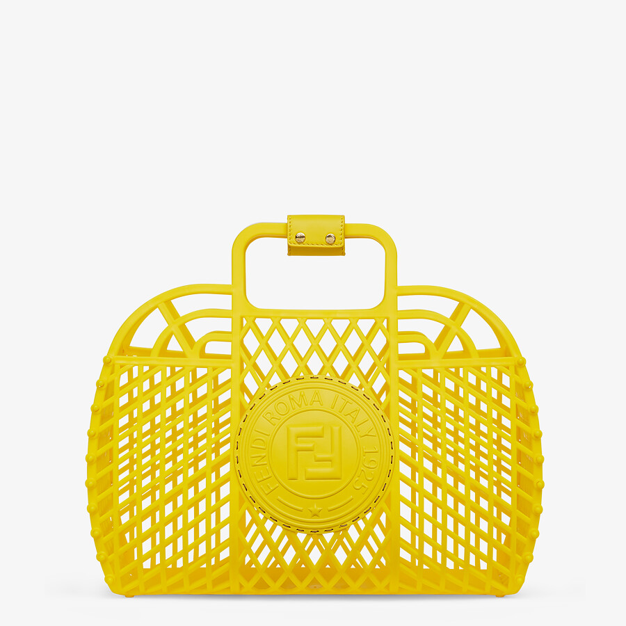 FENDI FENDI BASKET MEDIUM - Yellow recycled plastic mini-bag - view 1 detail