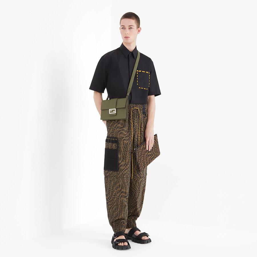 FENDI PANTS - Brown canvas pants - view 5 detail