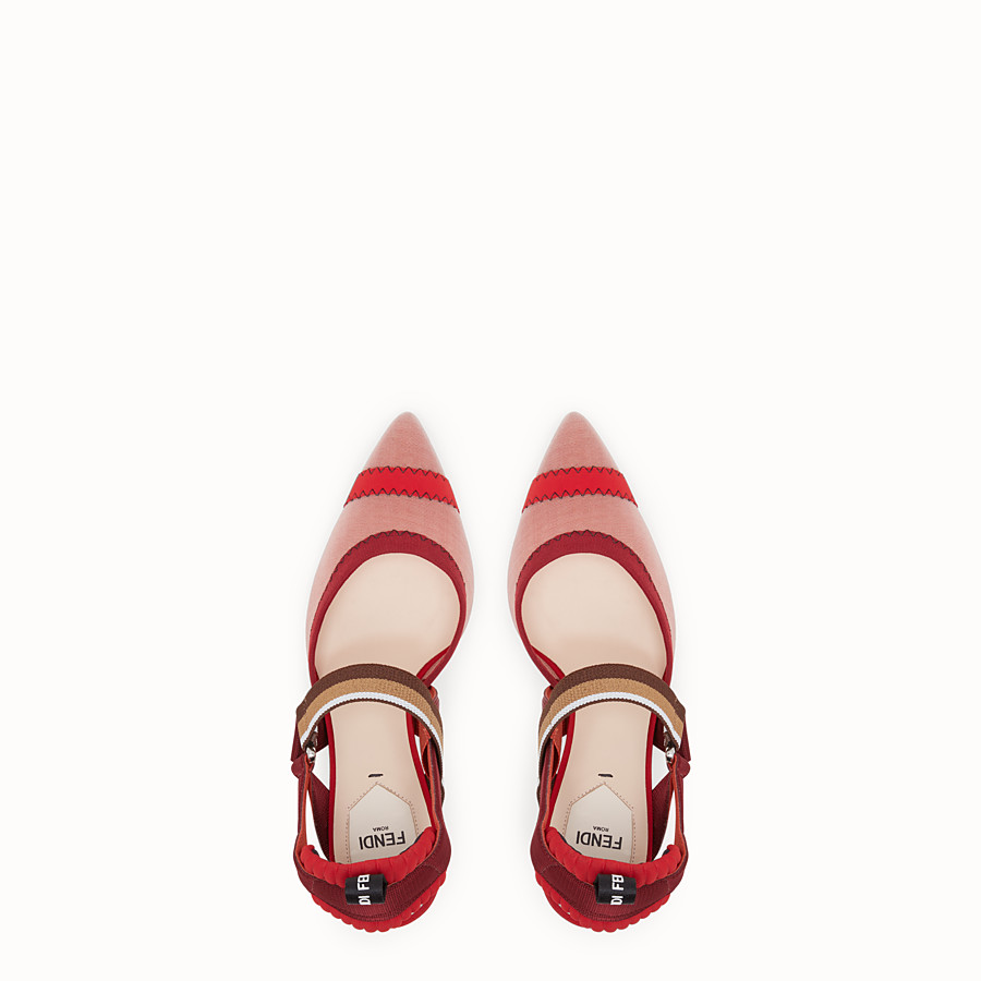 FENDI COURT SHOES - Colibrì in red mesh - view 4 detail