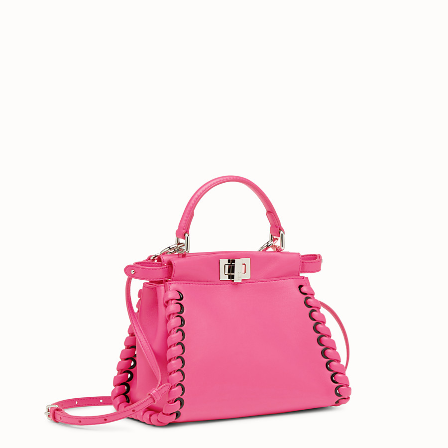 FENDI PEEKABOO MINI - Fuchsia leather bag - view 2 detail