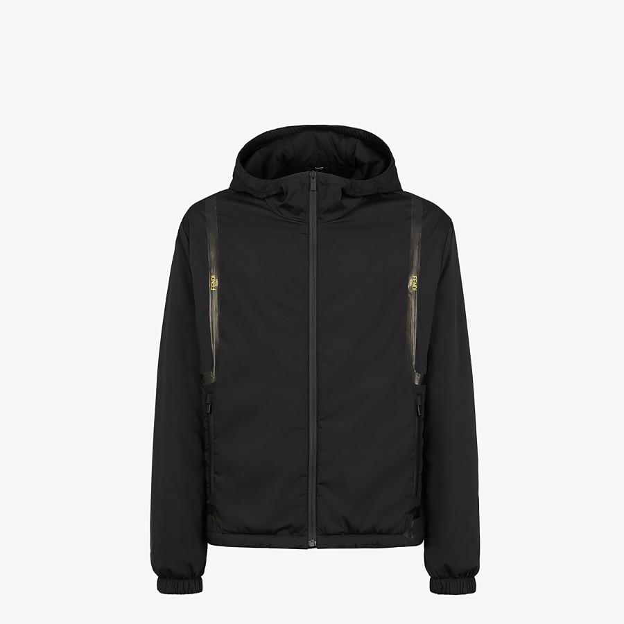 FENDI WINDBREAKER - Black tech fabric jacket - view 1 detail