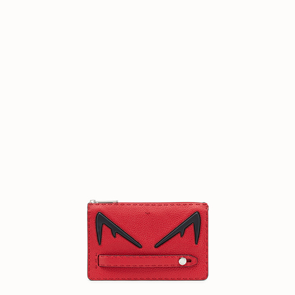 FENDI CLUTCH - Red Romano leather pochette - view 1 small thumbnail