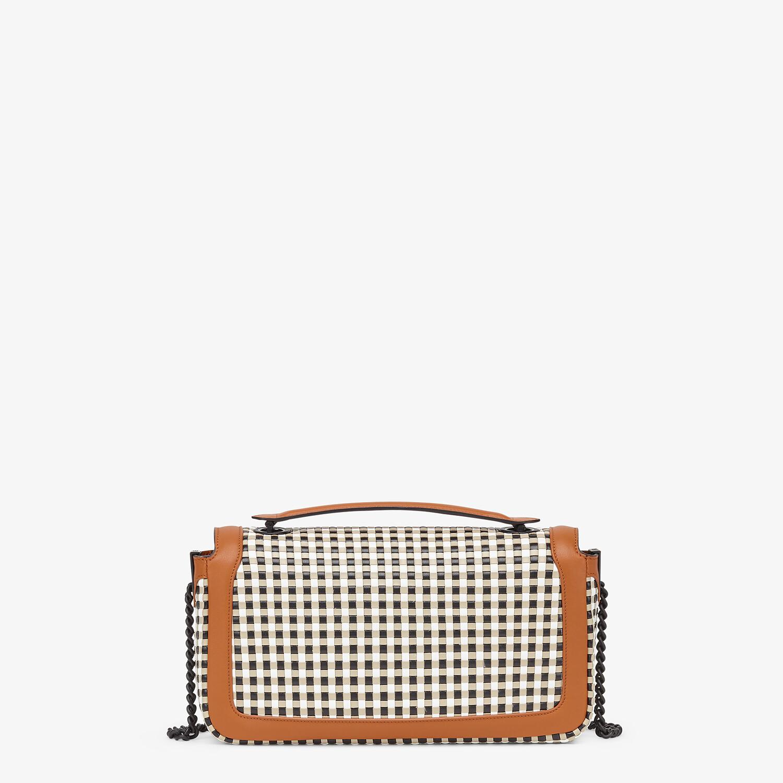 FENDI BAGUETTE CHAIN - Vichy interlace bag - view 4 detail