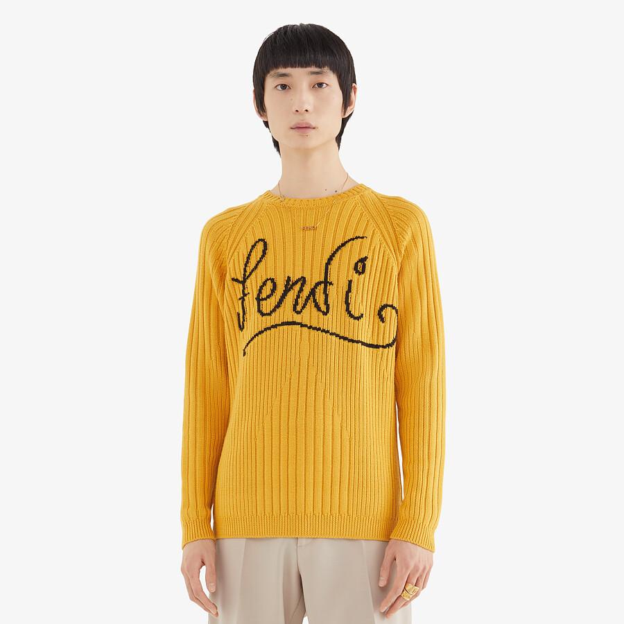 FENDI SWEATER - Yellow wool jumper - view 4 detail
