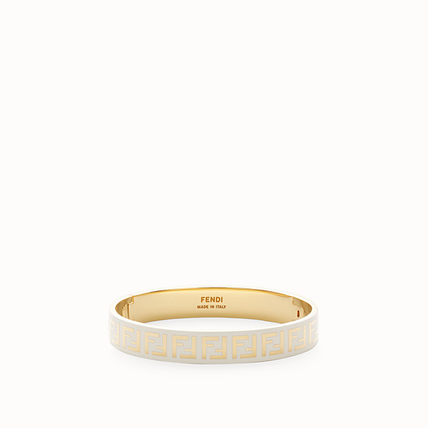 FENDI FF BRACELET - Gold and white coloured bracelet - view 1 small thumbnail