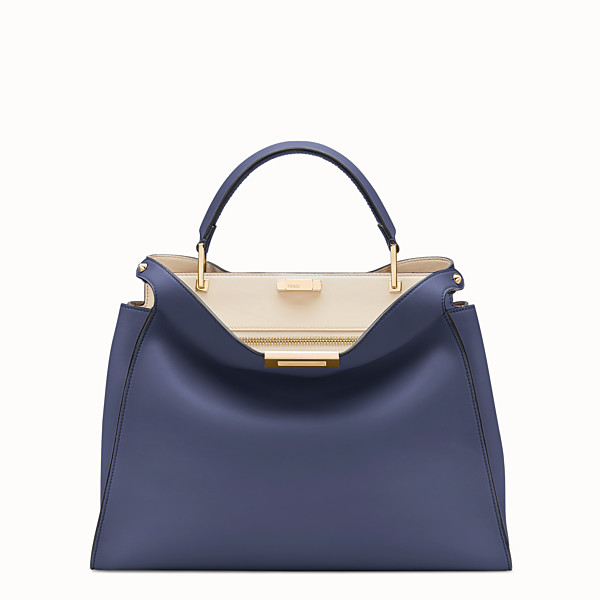 FENDI PEEKABOO ESSENTIAL - Blue leather bag - view 1 small thumbnail