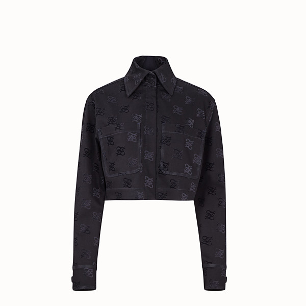 FENDI JACKET - Black denim jacket - view 1 small thumbnail