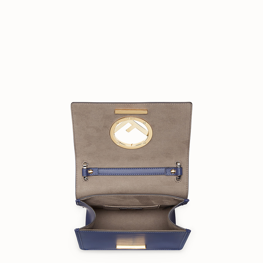 FENDI KAN I F SMALL - Blue leather mini-bag - view 4 detail