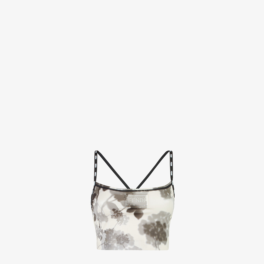 FENDI SPORTS TOP - Gray tech fabric top - view 1 detail