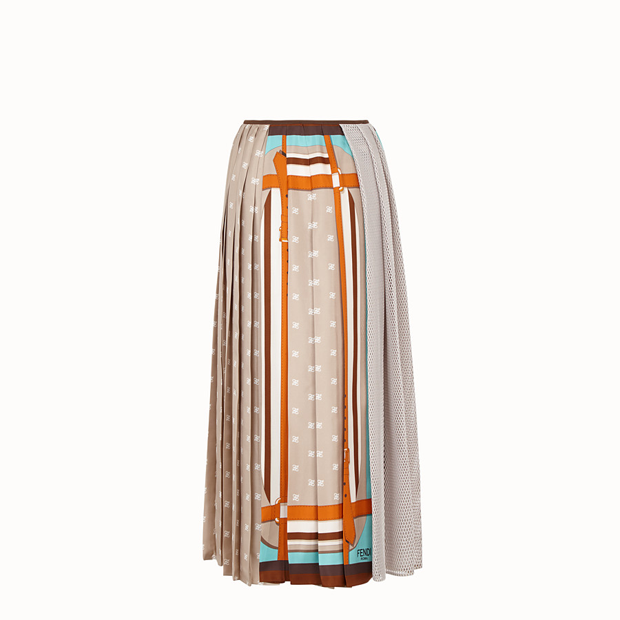 FENDI SKIRT - Beige silk skirt - view 2 detail