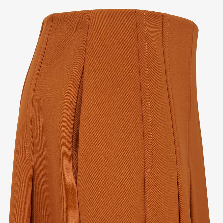 FENDI SKIRT - Brown gabardine skirt - view 3 detail