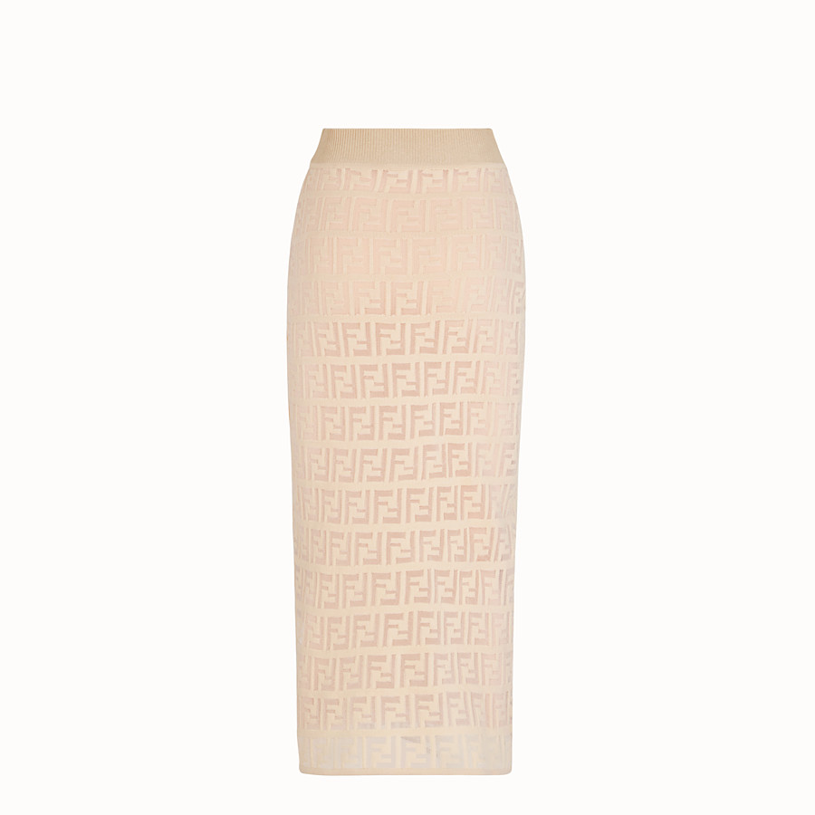 FENDI SKIRT - Beige cotton skirt - view 2 detail