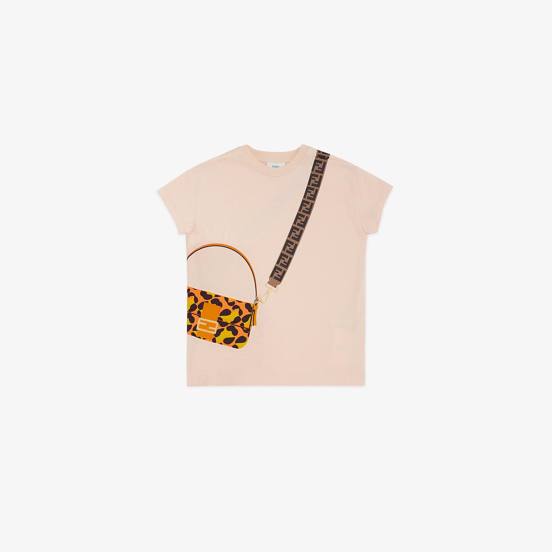 FENDI JUNIOR T-SHIRT - Pink jersey junior T-shirt - view 1 detail