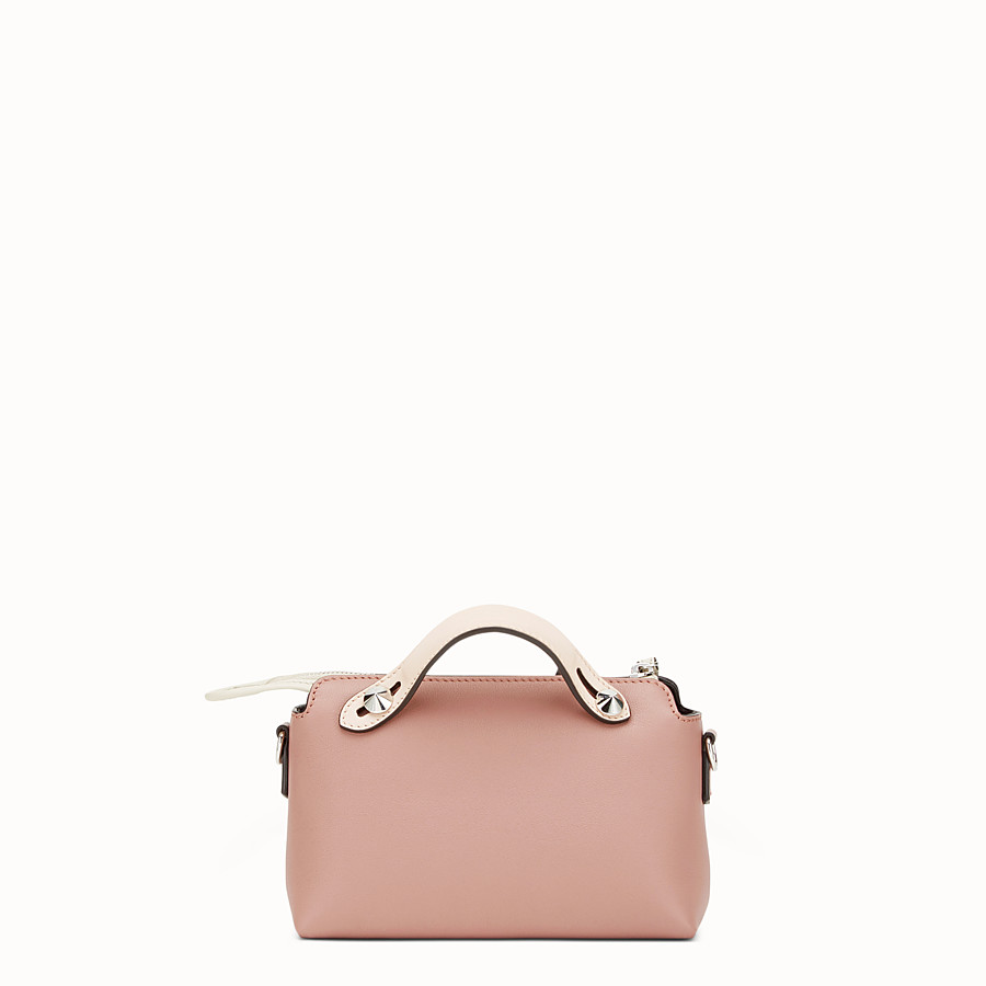 FENDI BY THE WAY MINI - Small pink leather Boston bag - view 3 detail