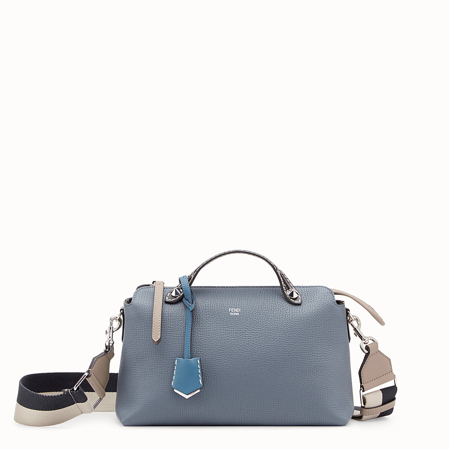 FENDI BY THE WAY REGULAR - Blue leather Boston bag - view 1 detail