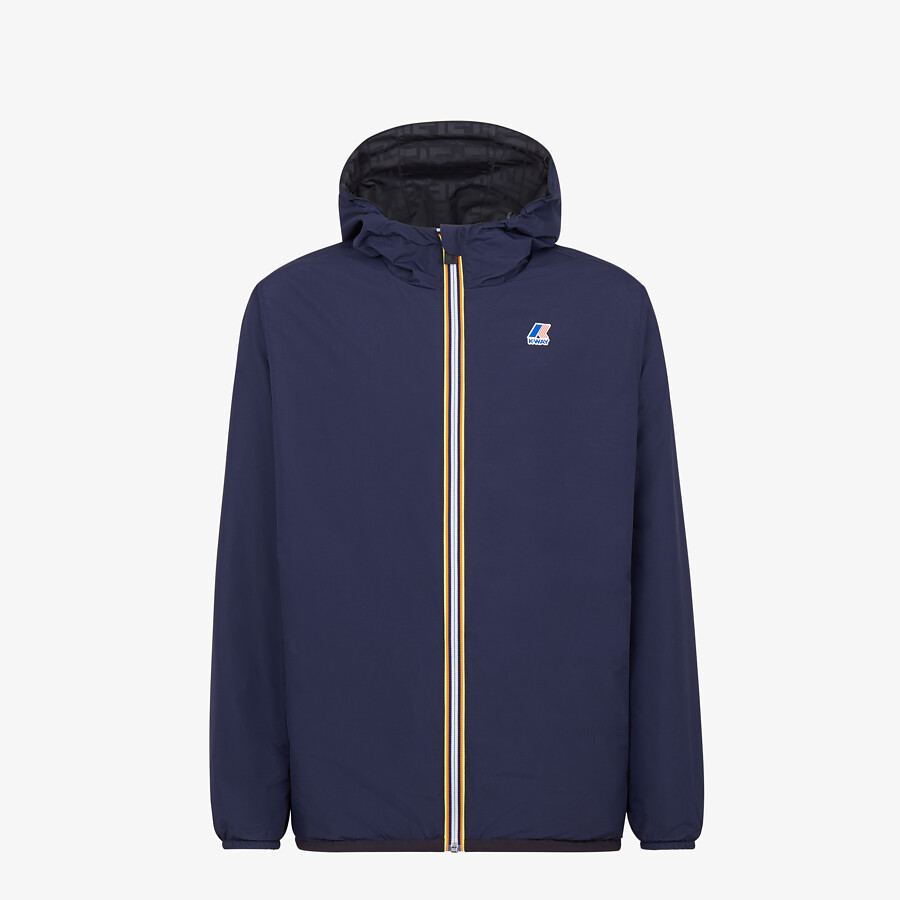FENDI WINDBREAKER - Blue nylon FENDI x K-Way® jacket - view 1 detail