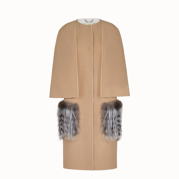 FENDI OVERCOAT - Beige wool coat - view 1 small thumbnail
