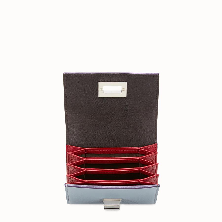 FENDI 피카부 지갑 - 그레이 및 레드 컬러의 가죽 소재 - view 4 detail