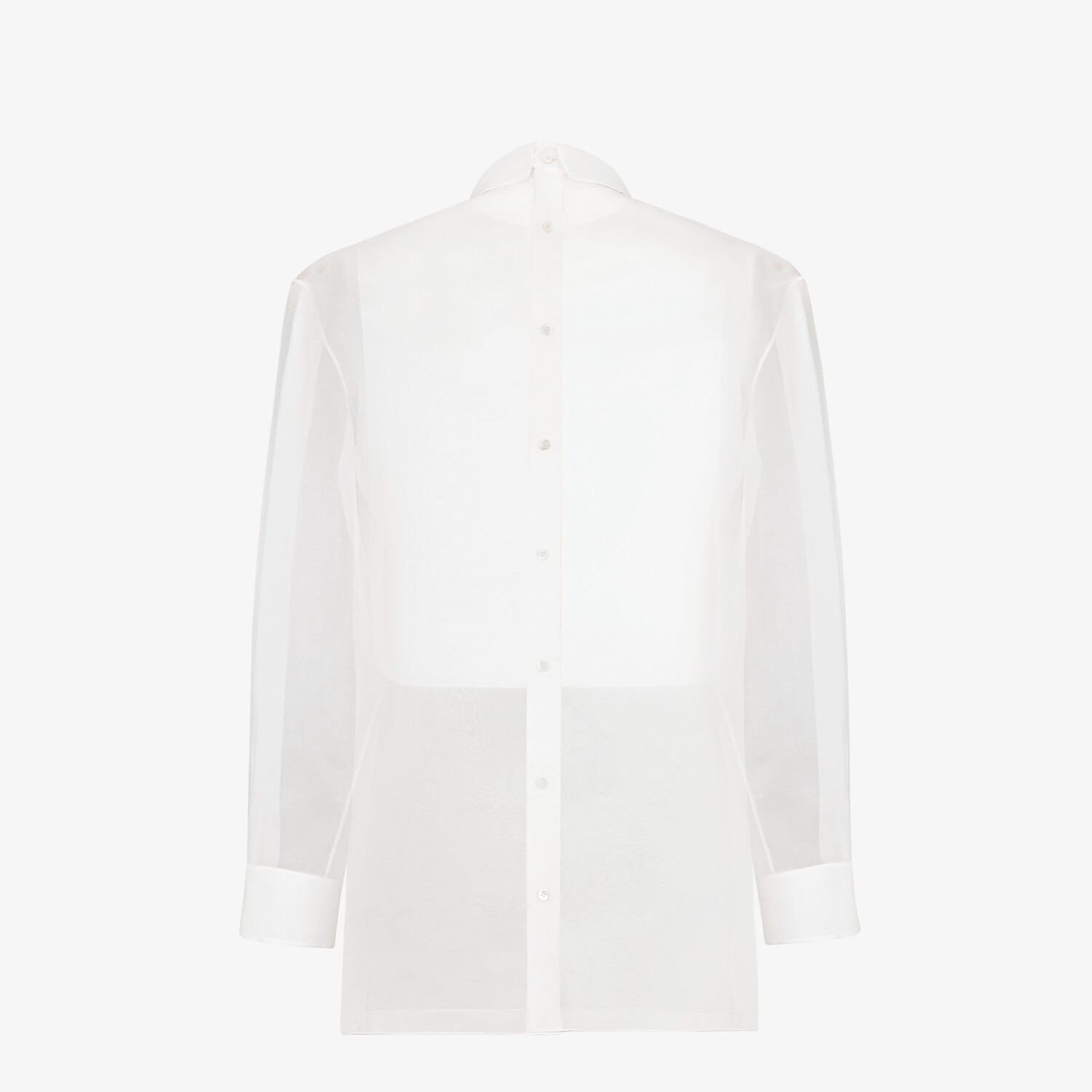 FENDI SHIRT - White organza shirt - view 2 detail