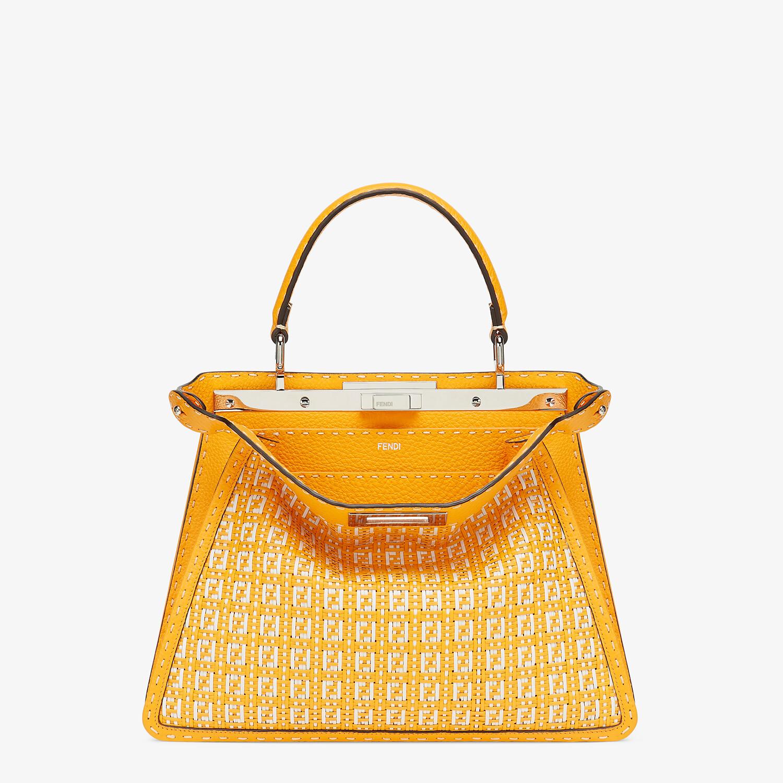 FENDI PEEKABOO ISEEU MEDIUM - Orange and white braided leather bag - view 1 detail