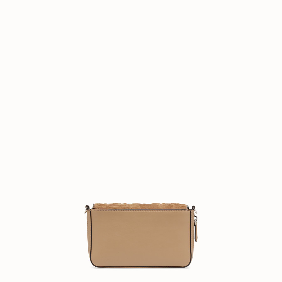 FENDI FLAP BAG - Beige leather bag - view 4 detail