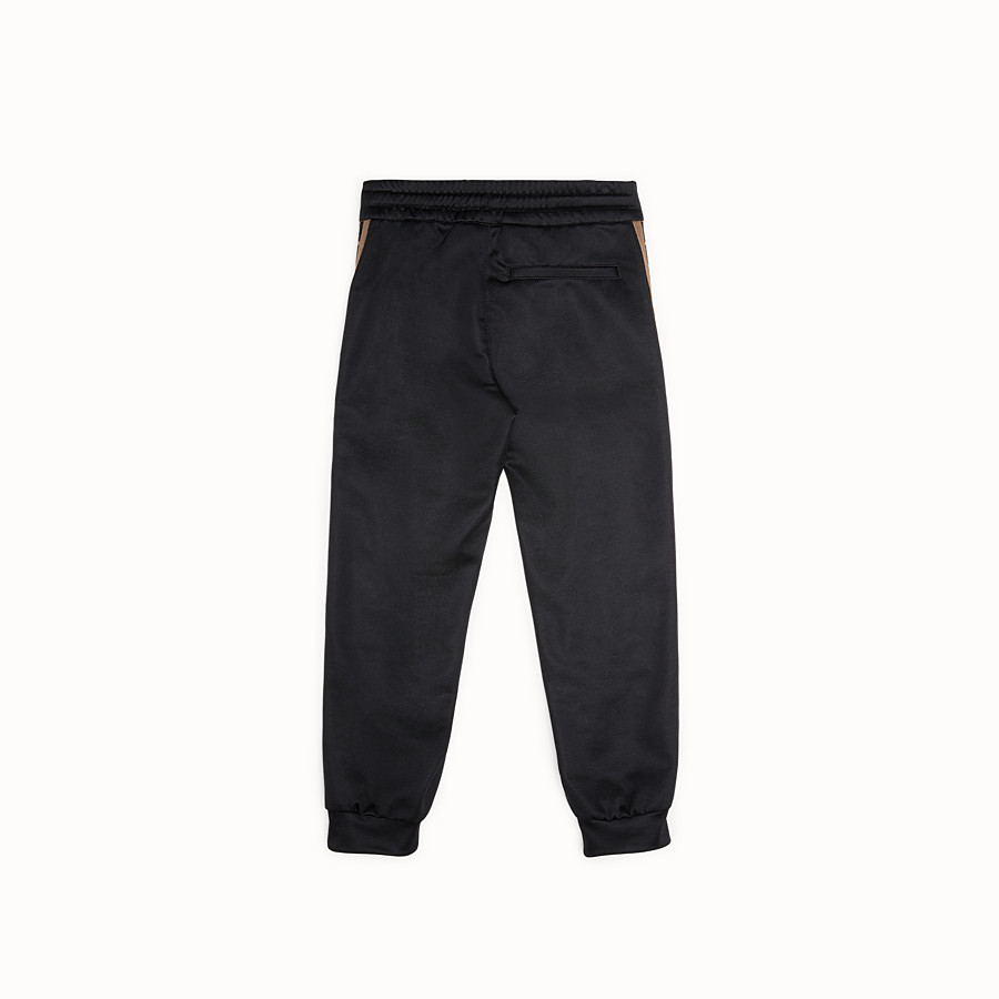 FENDI TROUSERS - Black tech fabric jogging trousers - view 2 detail
