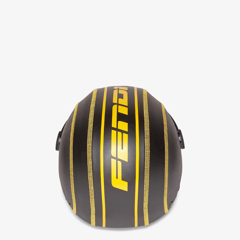 FENDI SKI HELMET - Black eco leather ski helmet - view 3 detail