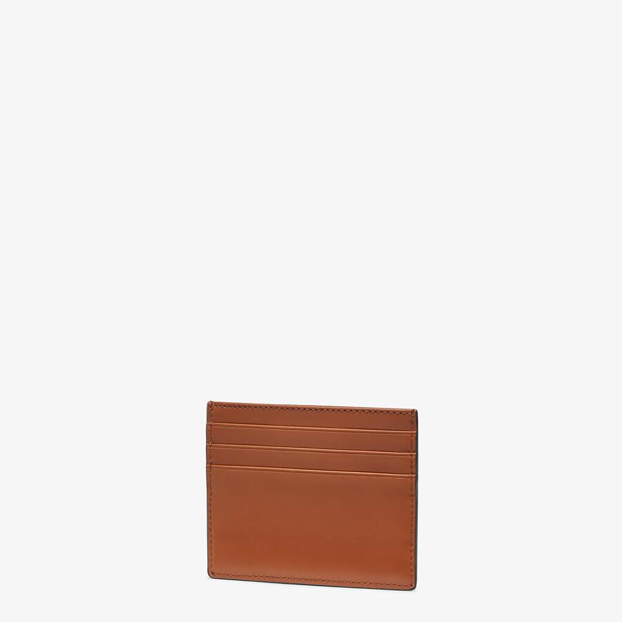 FENDI CARD HOLDER - Brown leather cardholder - view 2 detail