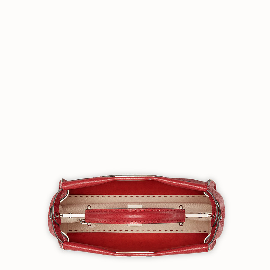 FENDI PEEKABOO ICONIC MEDIUM - Sac en cuir rouge - view 4 detail