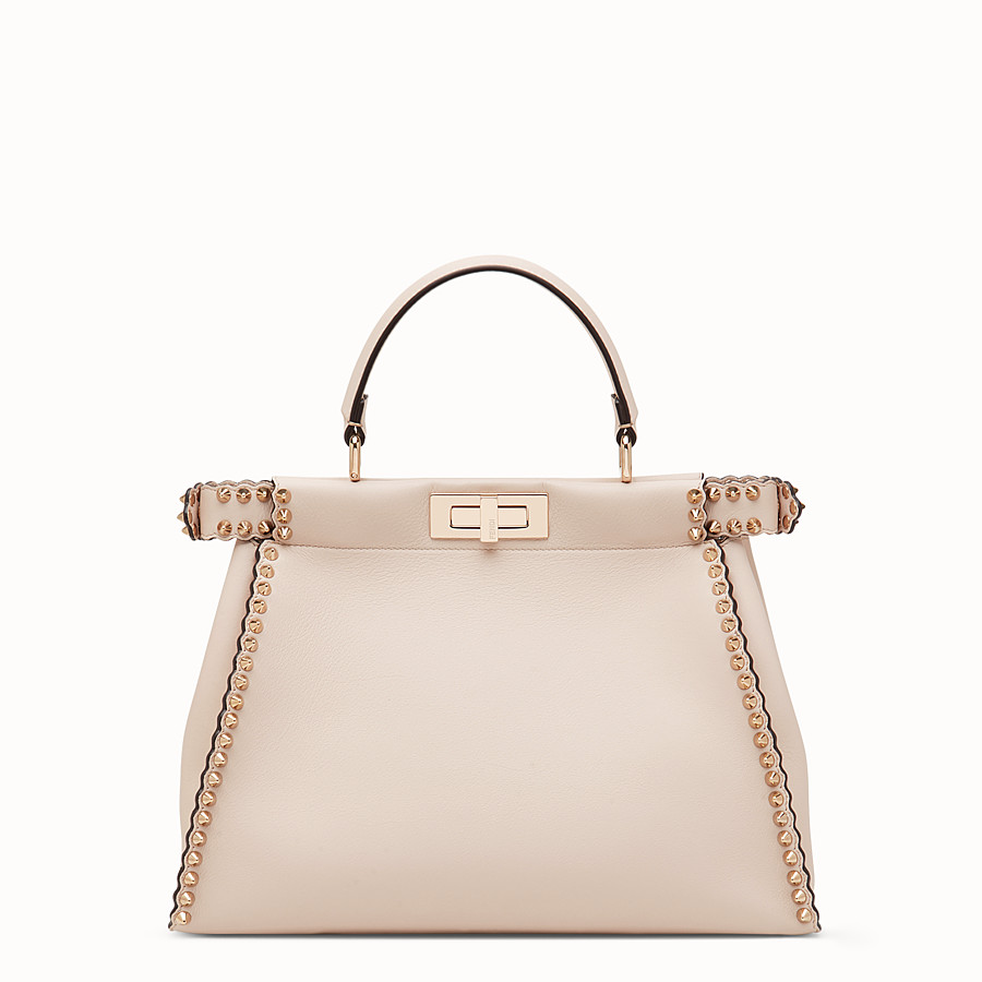 FENDI PEEKABOO REGULAR - Sac en cuir rose - view 3 detail