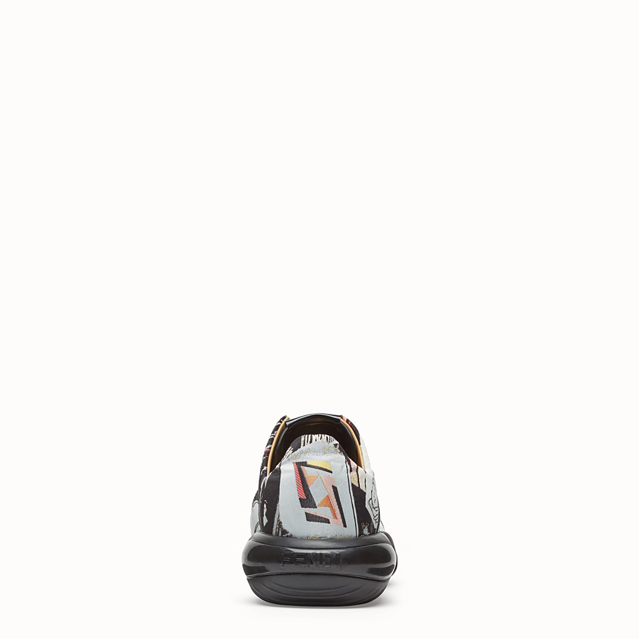 FENDI SNEAKERS - Multicolour fabric low top - view 4 detail