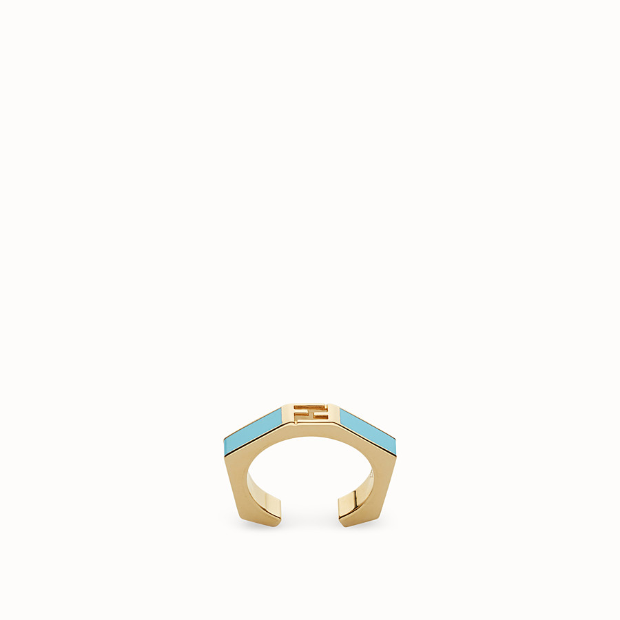 FENDI BAGUETTE RING - Polished turquoise Baguette ring - view 1 detail