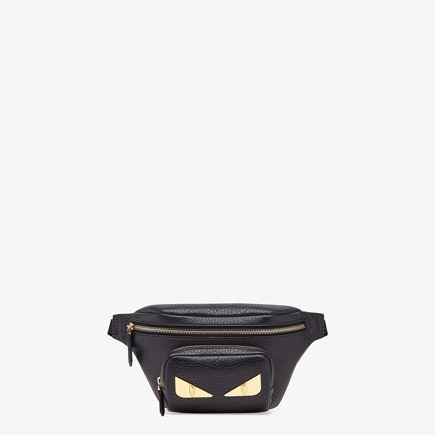 FENDI BELT BAG - Black Romano leather belt bag - view 1 detail