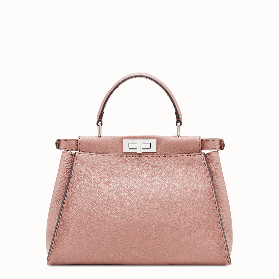 FENDI PEEKABOO REGULAR - Tasche aus Leder in Rosa - view 3 detail