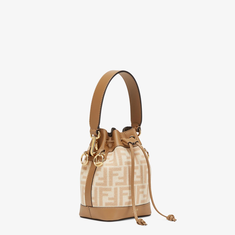 FENDI MON TRESOR - FF beige wool mini-bag - view 2 detail