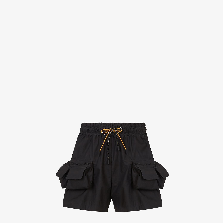 FENDI BERMUDAS - Black nylon pants - view 1 detail