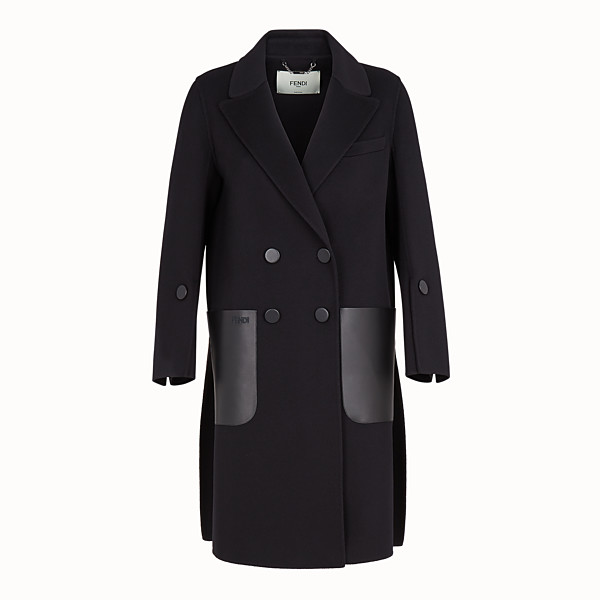 FENDI COAT - Black wool coat - view 1 small thumbnail