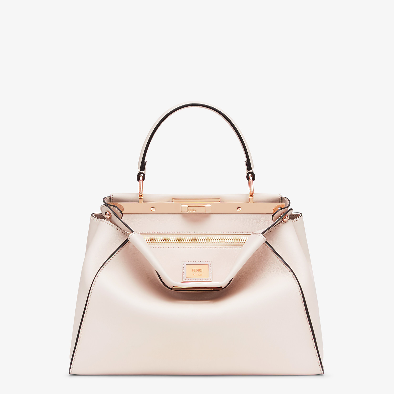 FENDI PEEKABOO ICONIC MEDIUM - Pink leather bag - view 1 detail