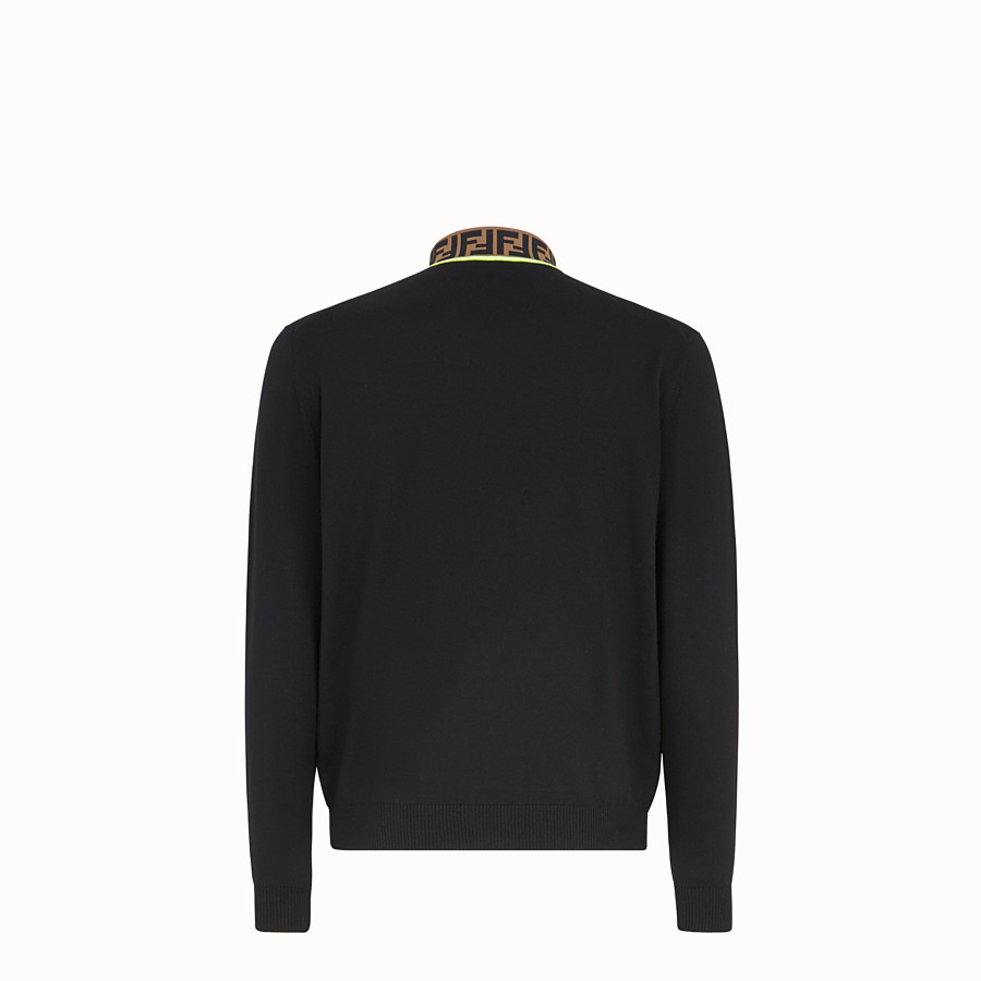 FENDI TURTLENECK - Black wool sweater - view 2 detail