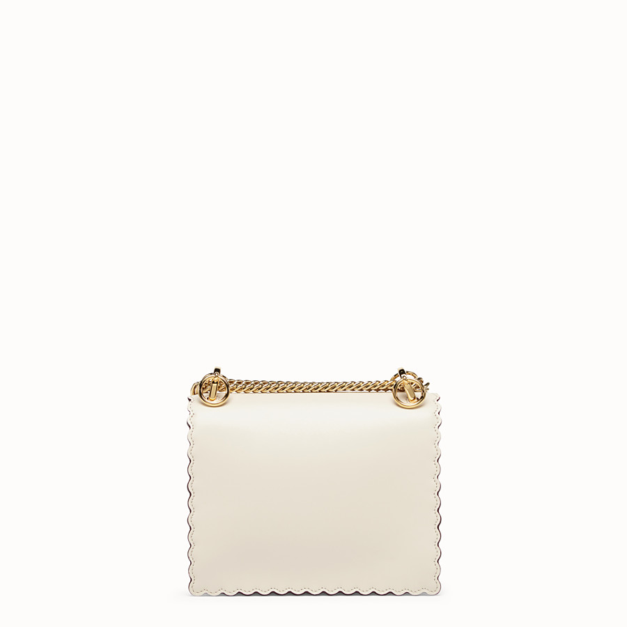 FENDI KAN I SMALL - Mini sac en cuir blanc - view 3 detail