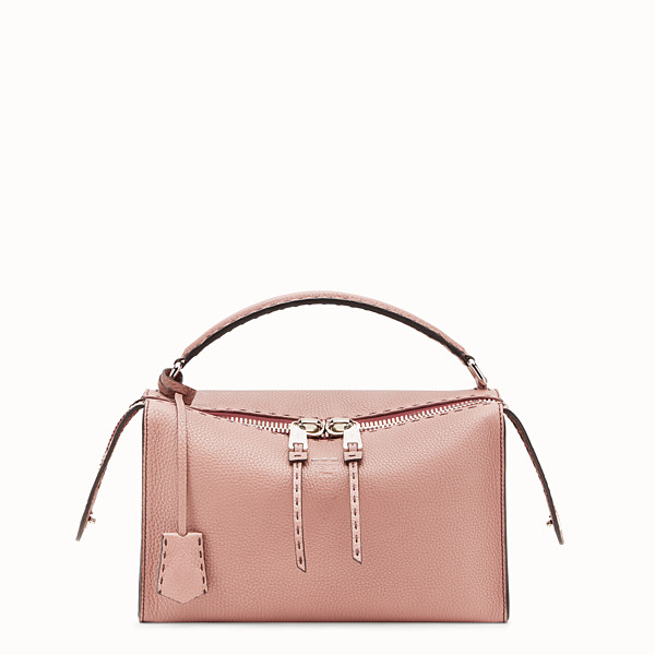 FENDI LEI SELLERIA BAG - Pink leather Boston bag - view 1 small thumbnail