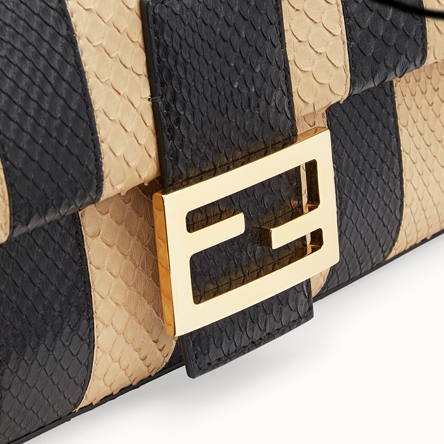 FENDI BAGUETTE - Black python leather bag - view 6 detail