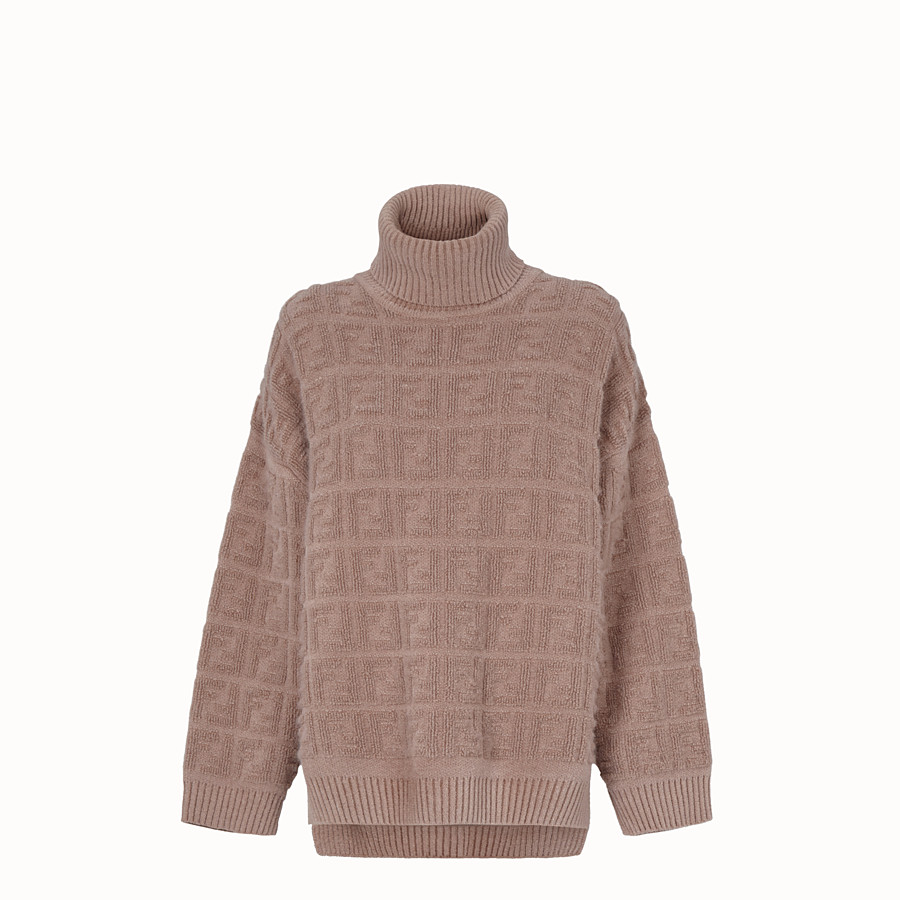 FENDI セーター - ベージュモヘア セーター - view 1 detail